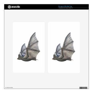 Bat In Side Profile with Wings in Upstroke Kindle Fire Skin