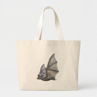 Bat In Side Profile with Wings in Upstroke Large Tote Bag