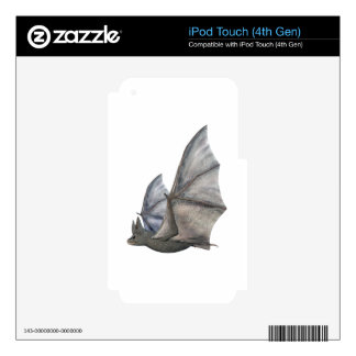 Bat In Side Profile with Wings in Upstroke Skin For iPod Touch 4G