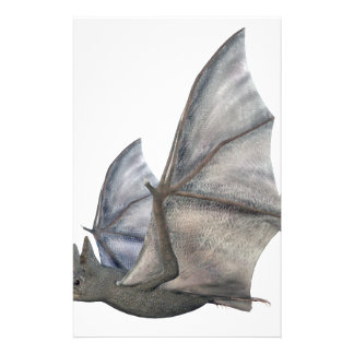Bat In Side Profile with Wings in Upstroke Stationery