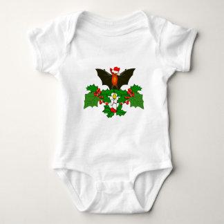 Bat In The Holly Baby Bodysuit