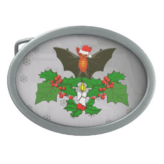 Bat In The Holly Belt Buckle