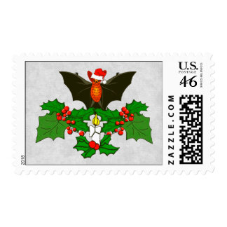 Bat In The Holly Postage Stamps
