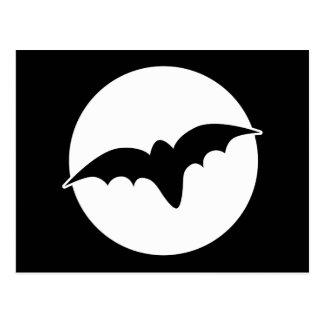 Bat infront of a circle postcard