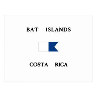 Bat Islands Costa Rica Alpha Dive Flag Postcard