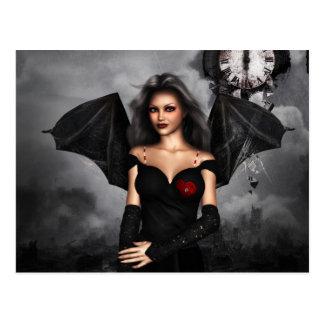 Bat Lady Postcard