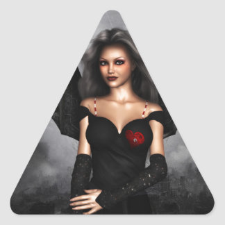Bat Lady Triangle Sticker