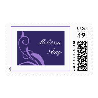 Bat Lilac Scroll Postage Stamp