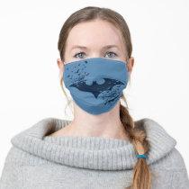 Bat Logo Bursting Into Bats Adult Cloth Face Mask