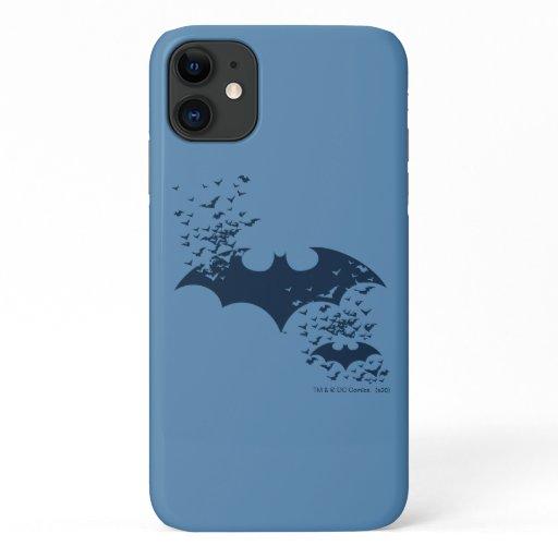 Bat Logo Bursting Into Bats iPhone 11 Case