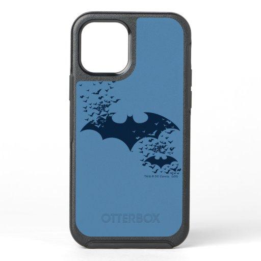 Bat Logo Bursting Into Bats OtterBox Symmetry iPhone 12 Case