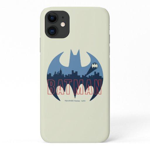 Bat Logo With Gotham & Bat Signal iPhone 11 Case