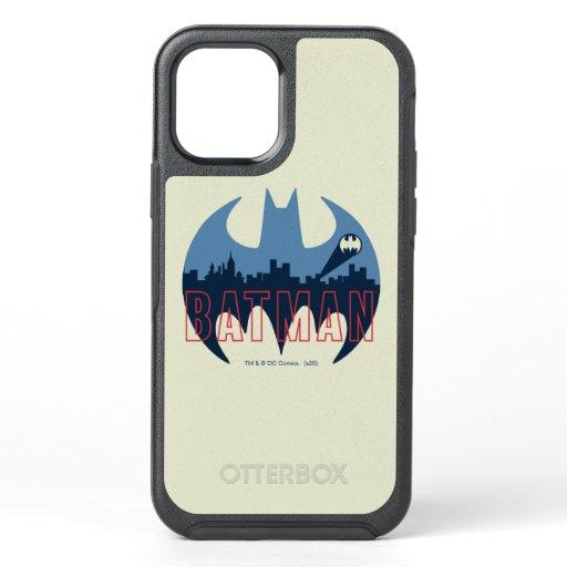 Bat Logo With Gotham & Bat Signal OtterBox Symmetry iPhone 12 Case