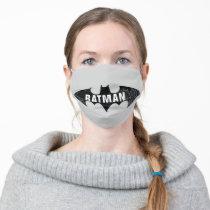 Bat Logo With Gotham Etching Adult Cloth Face Mask