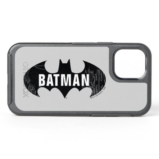 Bat Logo With Gotham Etching OtterBox Symmetry iPhone 12 Case