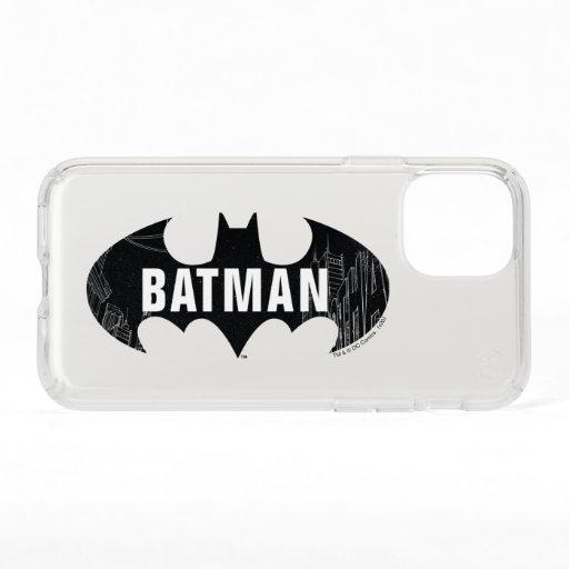 Bat Logo With Gotham Etching Speck iPhone 11 Pro Case
