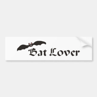 Bat Lover Car Bumper Sticker