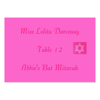 Bat Mitvah Place Card Large Business Cards (Pack Of 100)