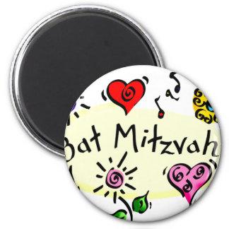 Bat Mitzvah 2 Inch Round Magnet