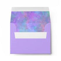 Bat Mitzvah Abstract Design in Purple Envelope