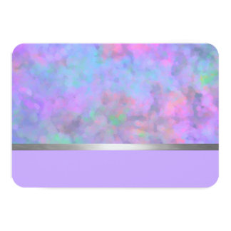 Bat Mitzvah Abstract Design in Purple 3.5x5 Paper Invitation Card
