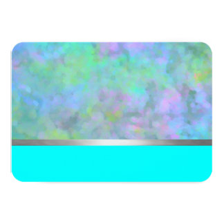 Bat Mitzvah Abstract Design in Turquoise 3.5x5 Paper Invitation Card