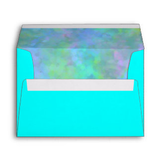 Bat Mitzvah Abstract Design in Turquoise Silver Envelope