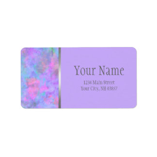 Bat Mitzvah Abstract Purple Pink Blue Silver Label