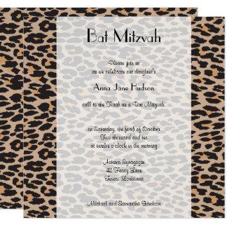Bat Mitzvah - Animal Print, Leopard - Brown Black Card