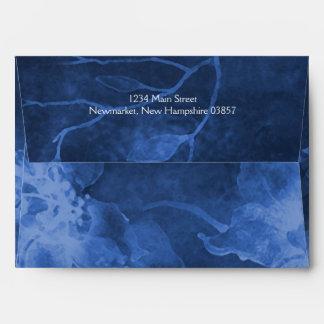 Bat Mitzvah Blue Watercolor Flowers Envelope