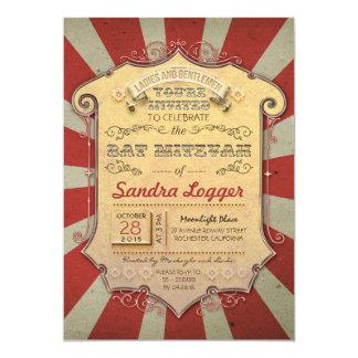 Bat Mitzvah Carnival or Circus Card