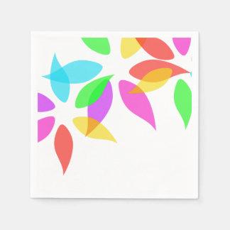 Bat Mitzvah Colored Petals Napkin