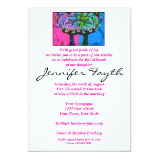 Bat Mitzvah - Cotton Candy Trees Of Life Card