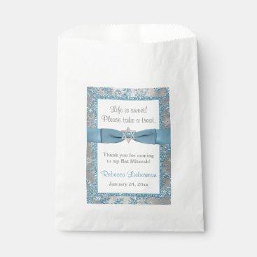 Bat Mitzvah Favor Bag | Winter Wonderland Blue Favor Bags