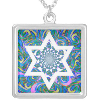 Bat Mitzvah gift. Hanukkah gift Necklace! Silver Plated Necklace