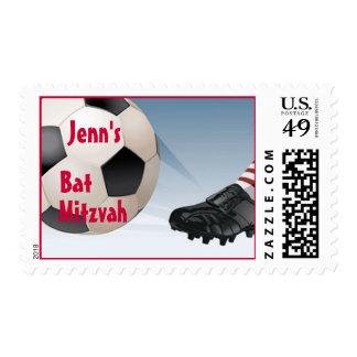 Bat Mitzvah Girl - Soccer Stamps