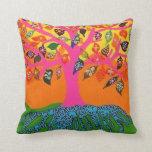 Bat Mitzvah Give-A-Way Pink Tree of Life Pillow