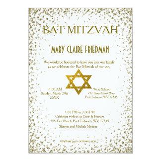 Bat Mitzvah | Gold Confetti Card