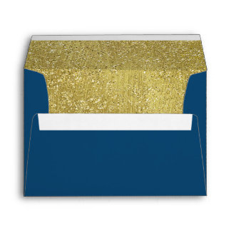 Bat Mitzvah Gold Glitter Border on Any Color Envelope