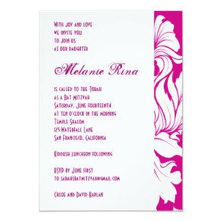 Bat MItzvah Invitation Melanie Rina Raspberry