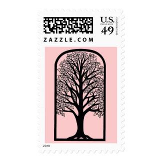 Bat Mitzvah Invitation Stamp Tree of Life