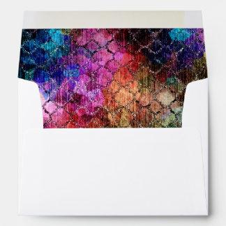 Bat Mitzvah Jewel Tones Shimmery Abstract Pattern Envelope