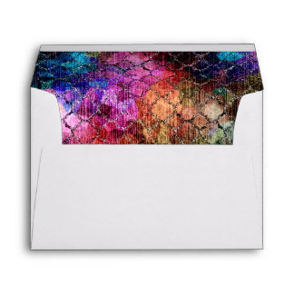 Bat Mitzvah Jewel Tones Shimmery Abstract Pattern Envelope