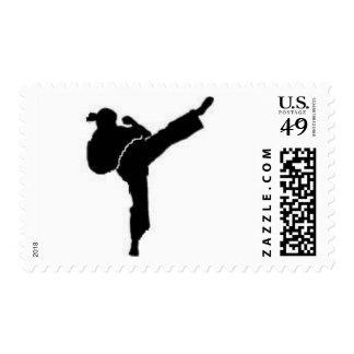 Bat Mitzvah Karate Girl Stamp