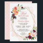 "Bat Mitzvah | Modern Gold Frame Watercolor Floral Invitation<br><div class=""desc"">Create your perfect invitation with this pre-designed templates, you can easily personalize it to be uniquely yours. For further customization, please click the ""customize further"" link and use our easy-to-use design tool to modify this template. If you prefer Thicker papers / Matte Finish, you may consider to choose the Matte...</div>"