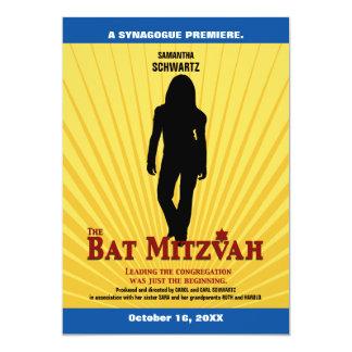 Bat Mitzvah Movie Star Invitation