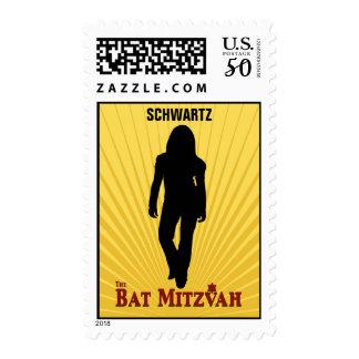 Bat Mitzvah Movie Star Stamp, Medium Postage