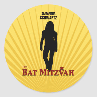 Bat Mitzvah Movie Star Sticker