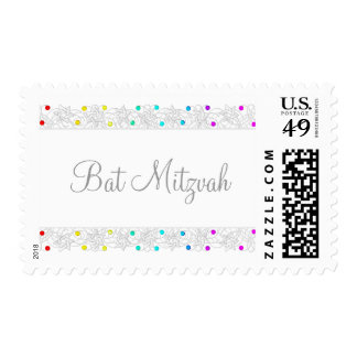 Bat Mitzvah Pearls and Lace Rainbow Stamp