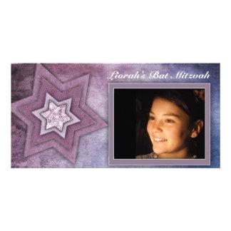 Bat Mitzvah Photo card template
